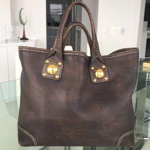 GUCCI Tote. Brown leather